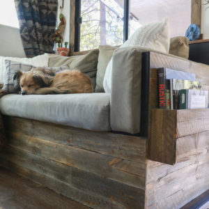 DIY Wood Planked Sofa in RV