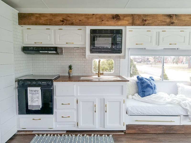 Remodeled RV Kitchen