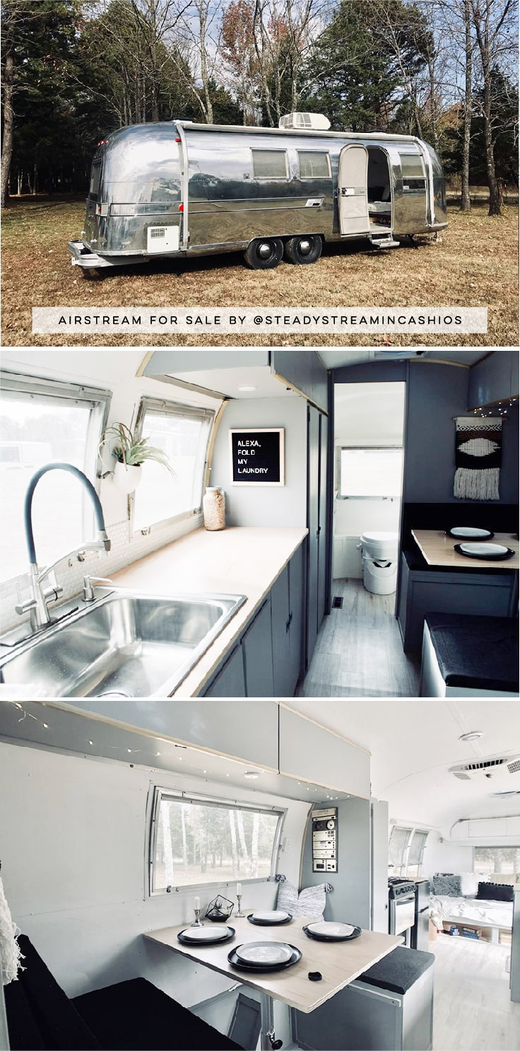 Camper Tour: Meet Magdalene the Airstream, a vintage trailer renovated by @SteadyStreaminCashios!   Featured on MountainModernLife.com