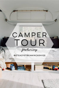 Camper Tour: Meet Magdalene the Airstream (for sale!), a vintage trailer renovated by @SteadyStreaminCashios | Featured on MountainModernLife.com