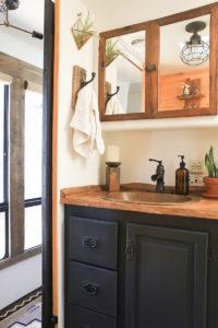 Rustic RV bathroom remodel