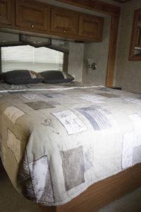 Tiffin Allegro bedroom before photo