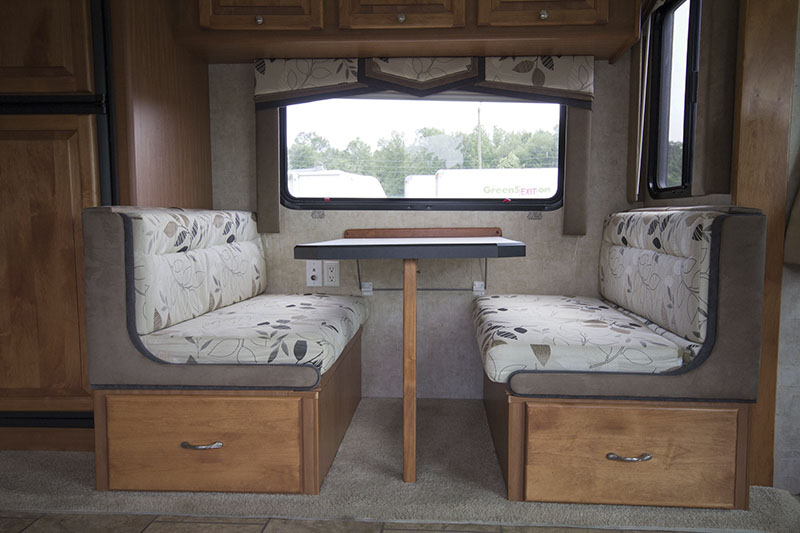 RV dinette booth