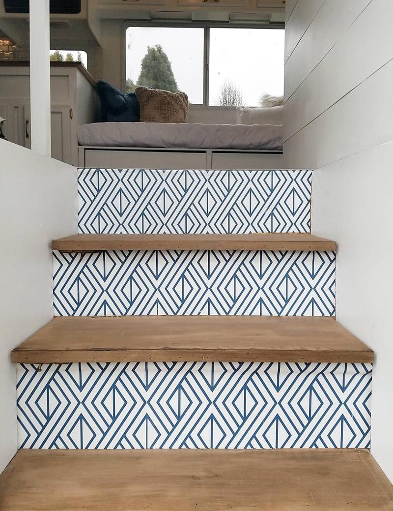 Updated RV stairs