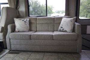 RV sofa in Tiffin Allegro Open Road