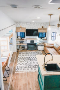 Camper Tour: This family traded a house by the ocean for a home on the road. Photos from @UncommonFarmer / Featured on MountainModernLife.com