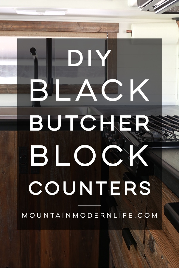 DIY Black Kitchen Countertops