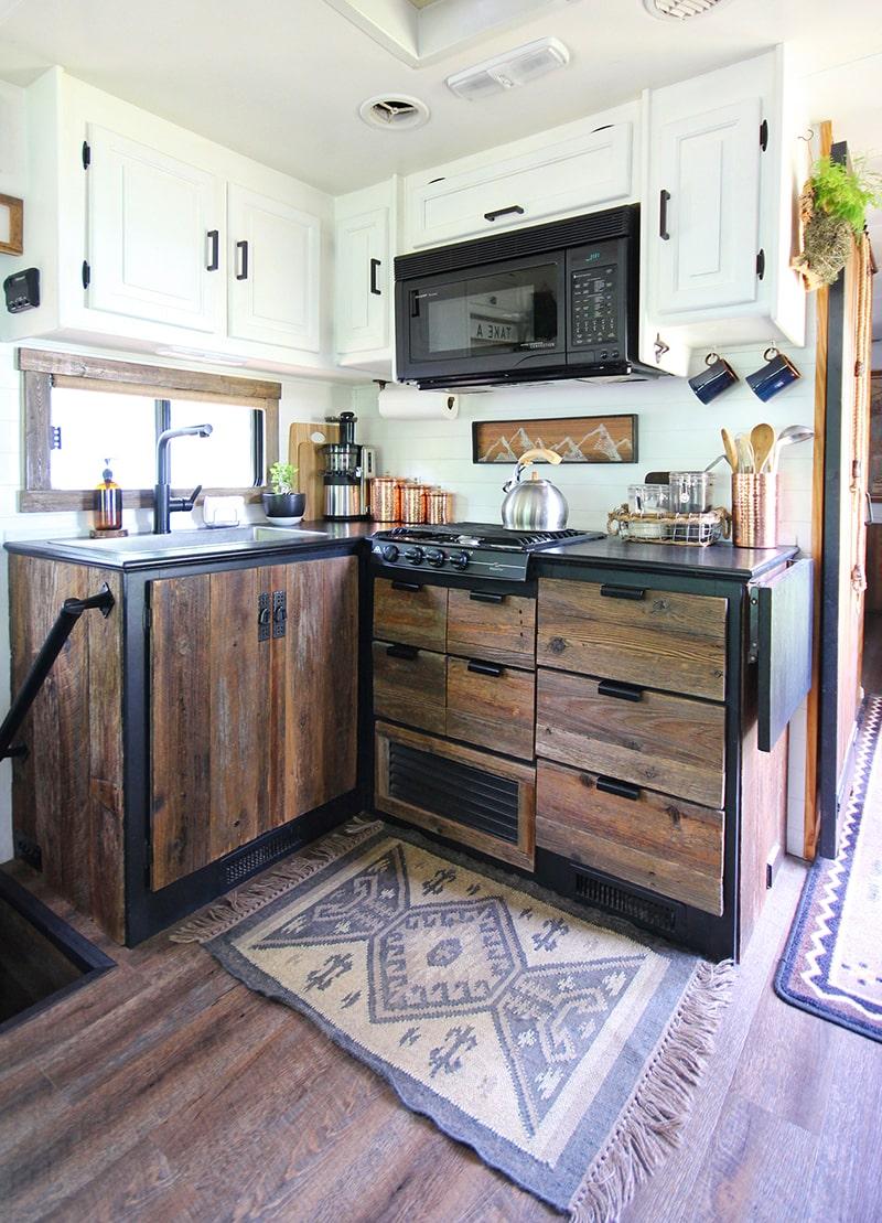 Rustic RV kitchen