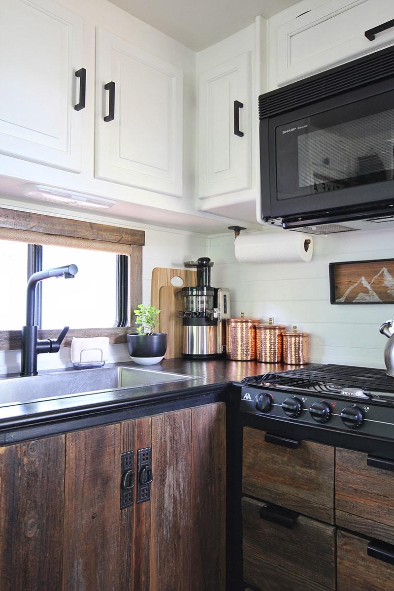 Wood and White Tiny Kitchen