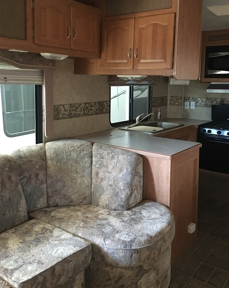 Forest River 5th Wheel Before Renovation from Detach and Roam - Featured on MountainModernLife.com