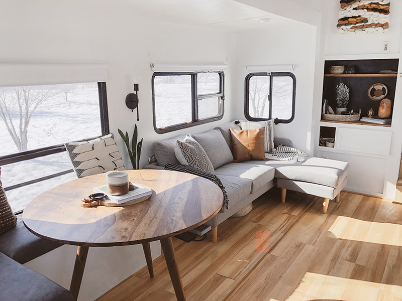 This Modern RV Remodel is filled with ScandinavianCoziness - Featuring Detach and Roam on MountainModernLife.com