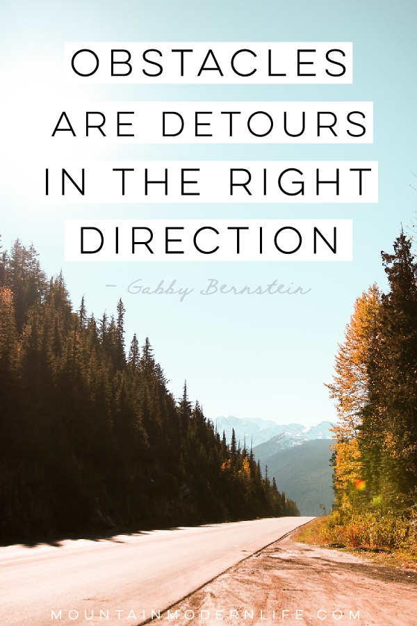 Obstacles are Detours in the Right Direction, introducing the pre-launch of Grandpa's Good Earth! MountainModernLife.com