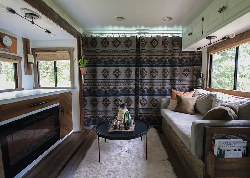 How to separate RV cab area with curtains | MountainModernLife.com