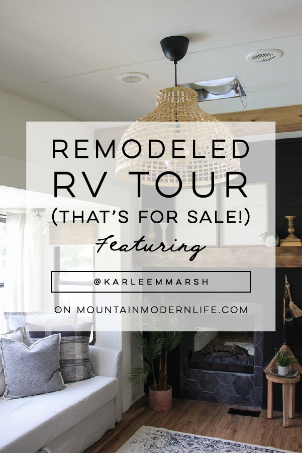 RV Tour and Inspiration featuring @karleemmarsh on MountainModernLife.com