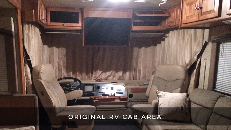 RV Quick Tip: How to separate RV cab area with curtains | MountainModernLife.com