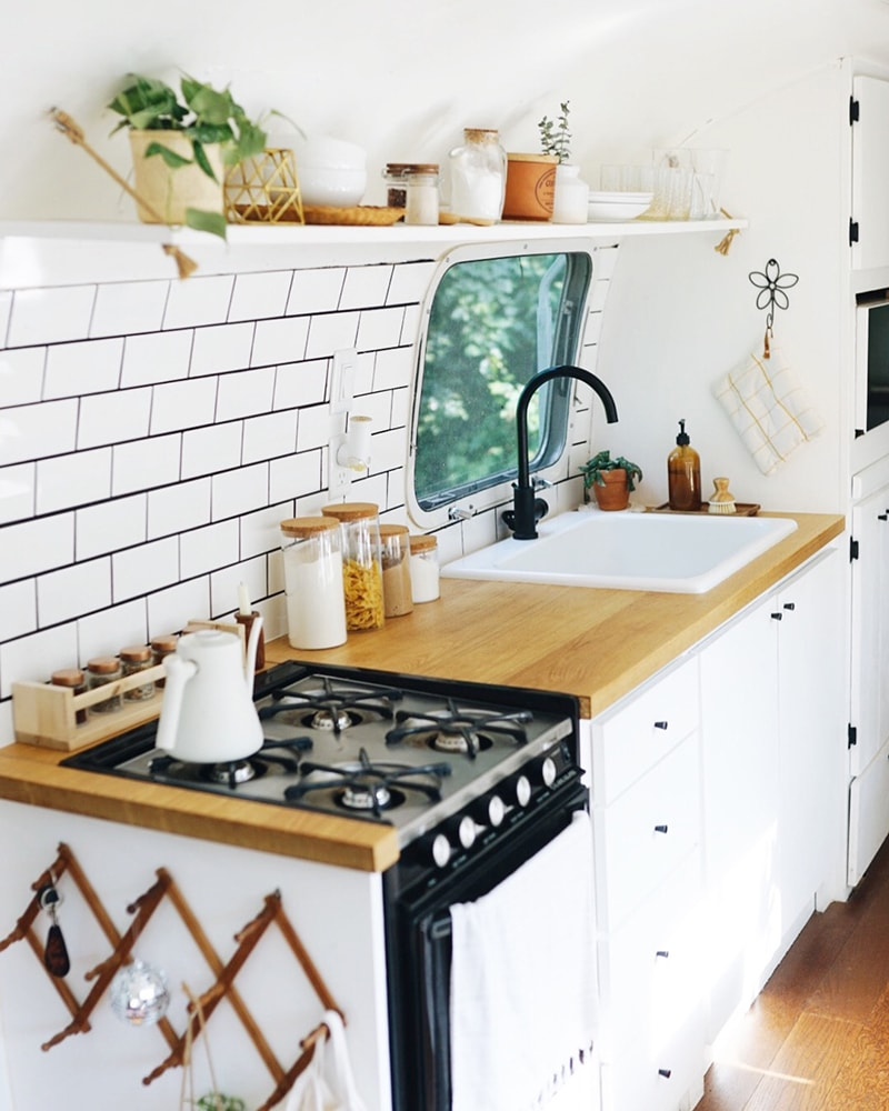 Airstream Kitchen Remodel from @provencher_adventure