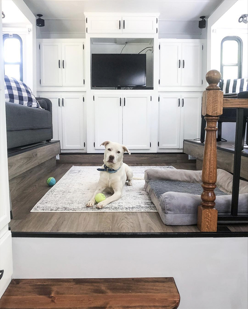 Remodeled 5th Wheel from from @fifthwheelfarmhouse