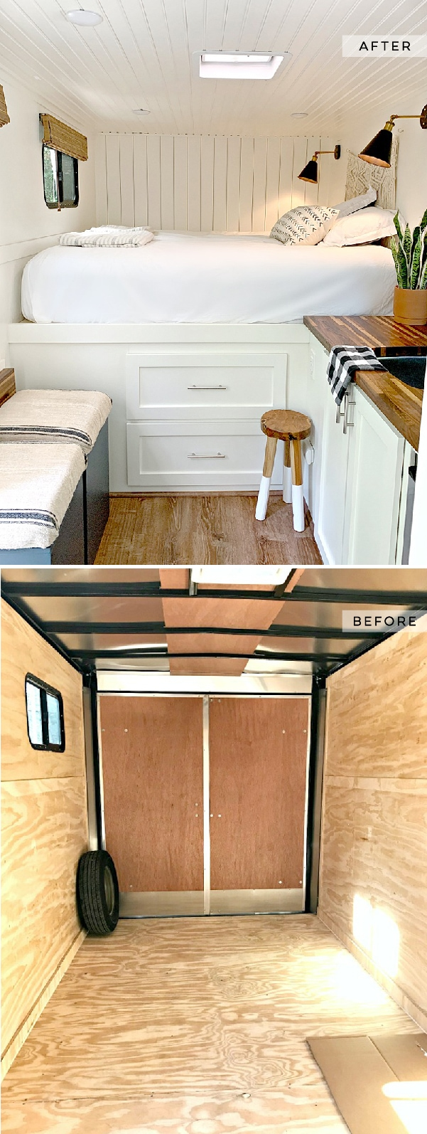 Cargo Trailer Converted into a Modern Camper from @ChatfieldCourt