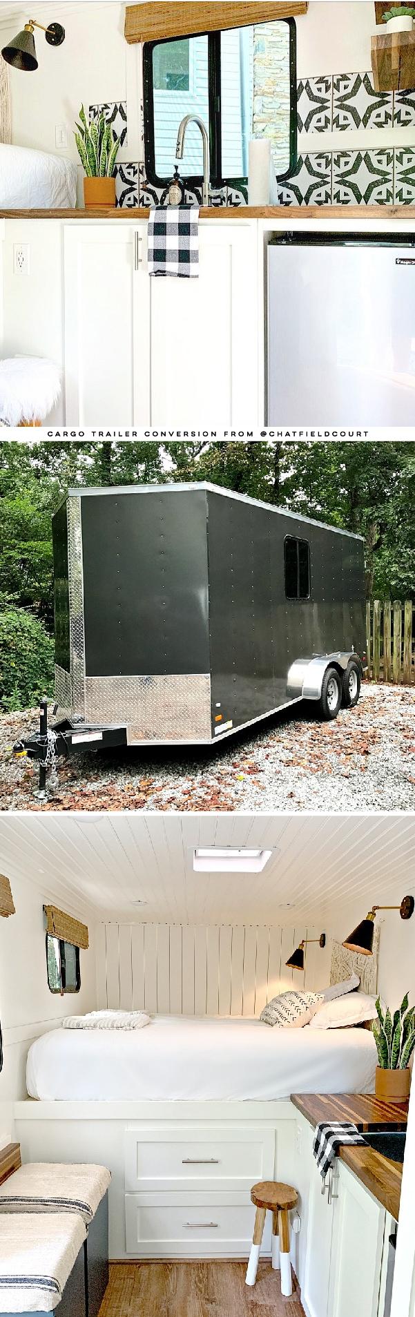 Cargo Trailer RV Conversion from @ChatfieldCourt