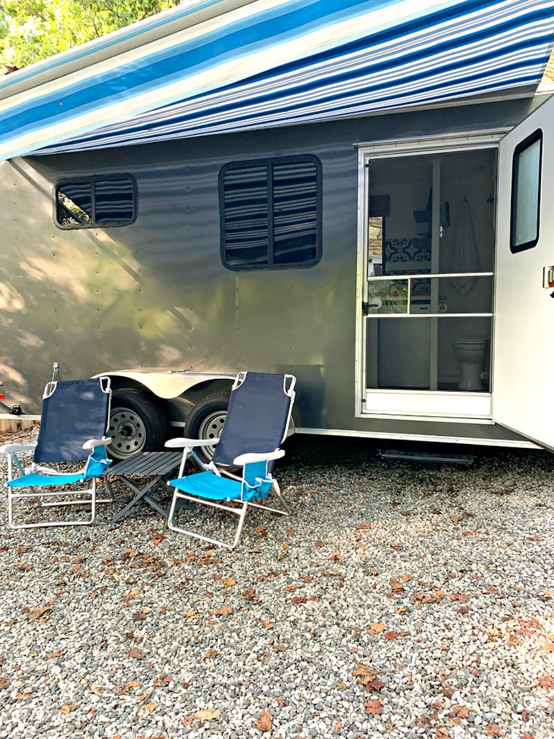 Awning on Cargo Trailer Conversion from @ChatfieldCourt