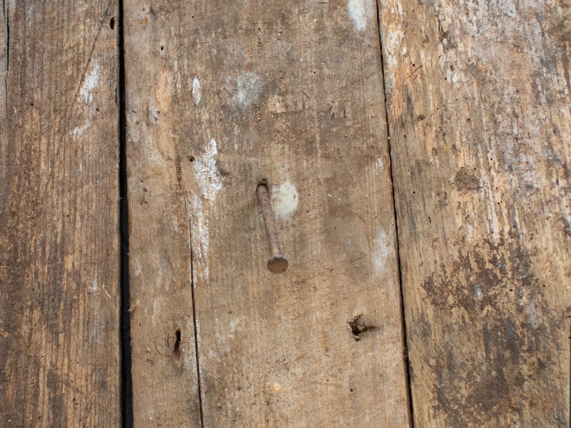 Nail in Reclaimed Wood | MountainModernLife.com