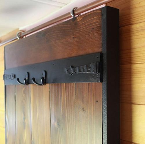 DIY Sliding Barn Door Hardware made from copper pipe