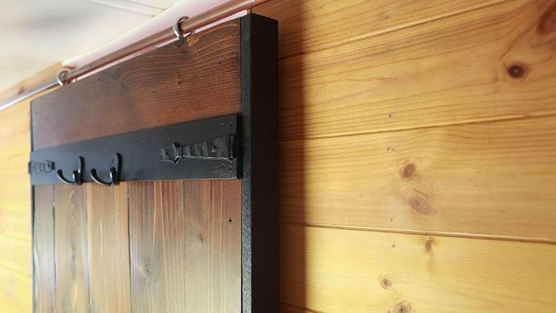 DIY Sliding Barn Door Hardware with copper pipe