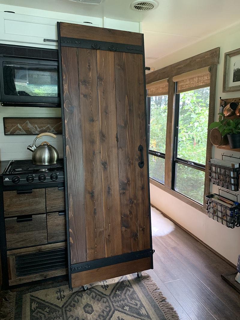 DIY Lightweight Barn Door for RV interior