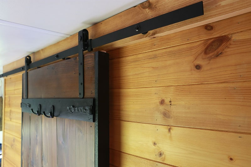 lightweight sliding barn door in RV