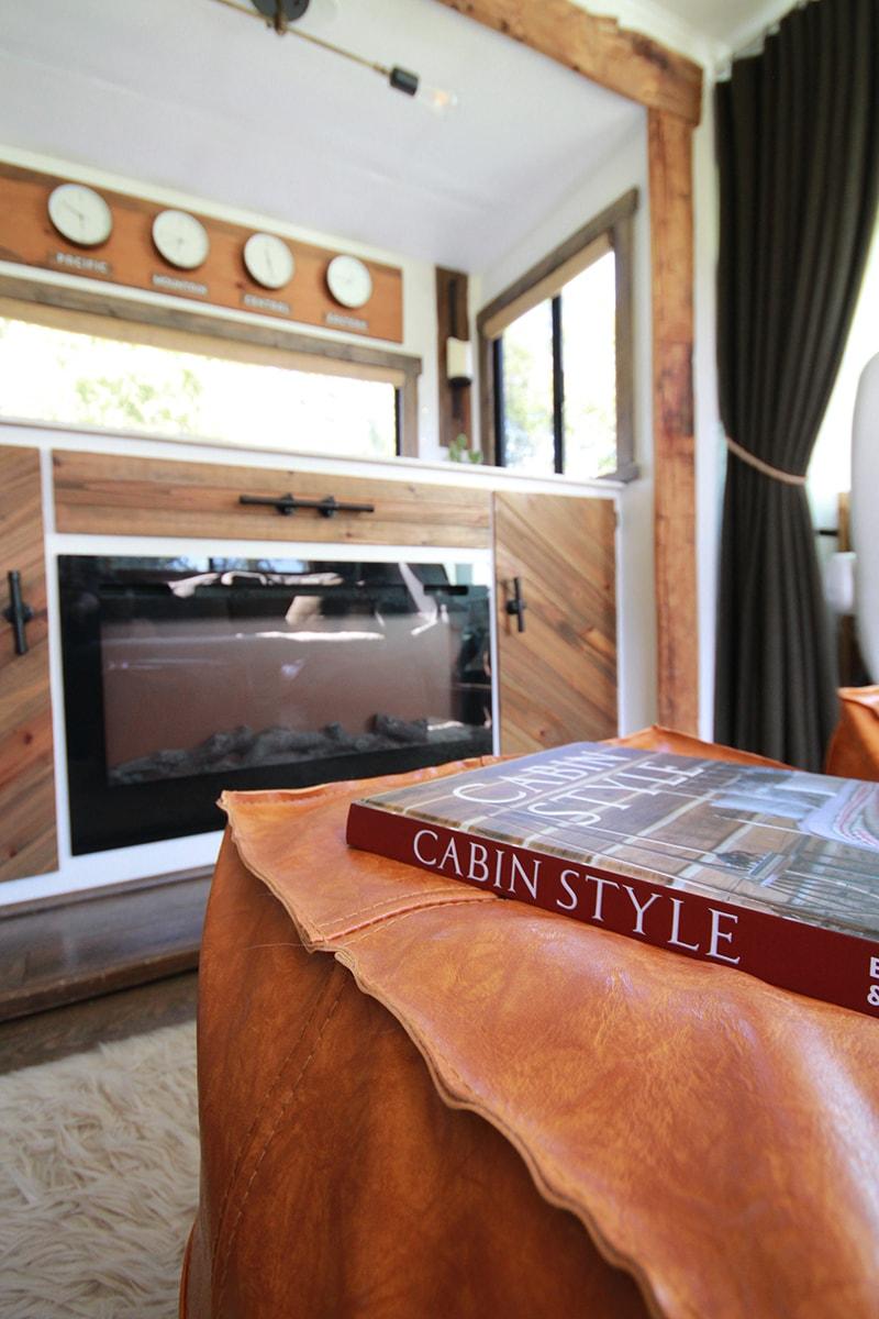 cabin-inspired RV interior