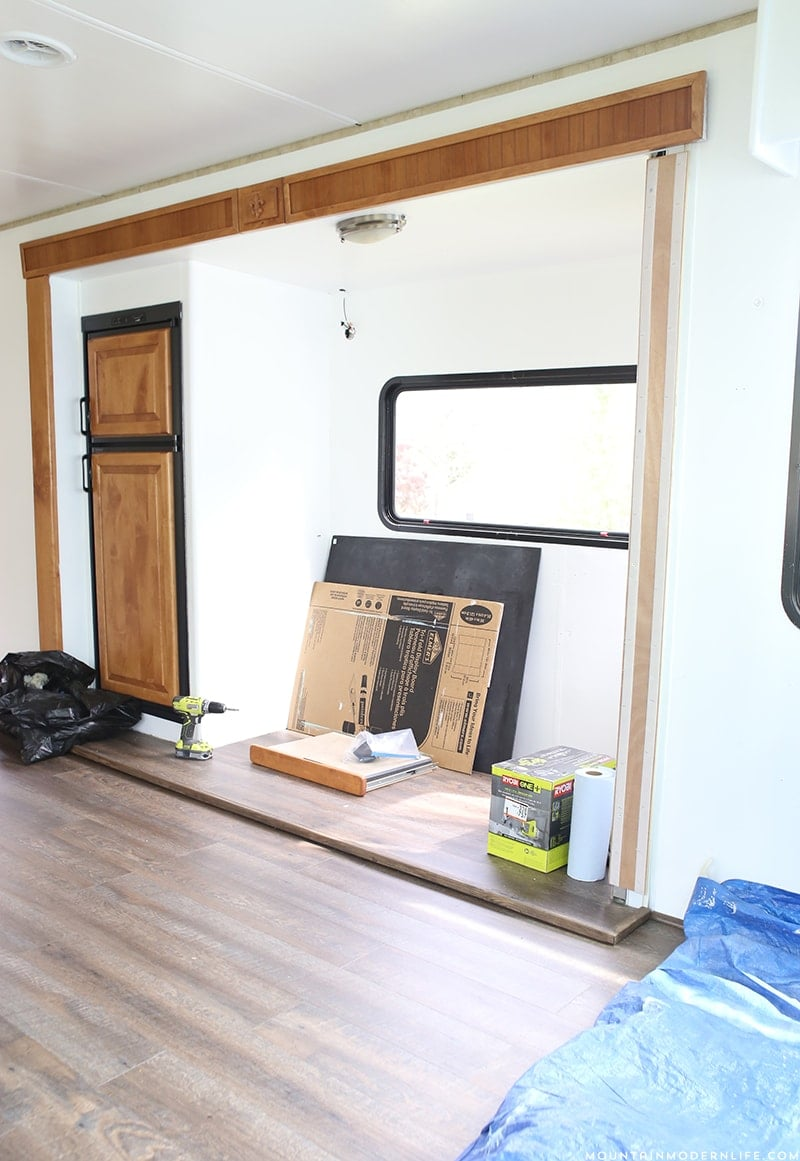 RV slide-out during renovation