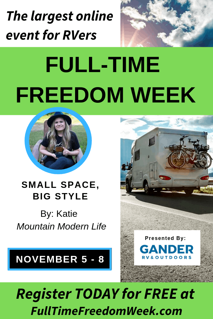 Don't miss out on Full-Time Freedom Week, the largest online event for and by RV'ers!
