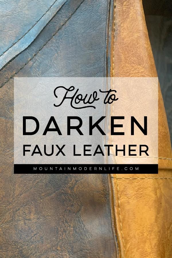 How to darken faux leather poufs