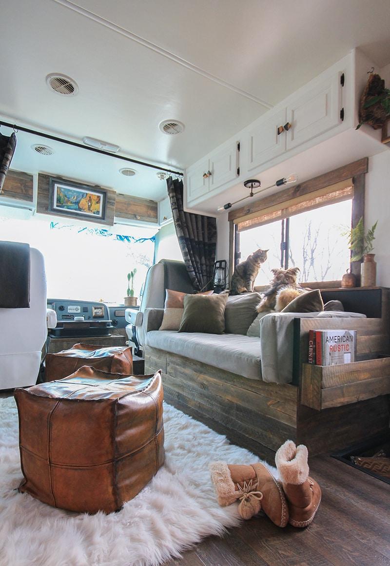 rustic rv interior