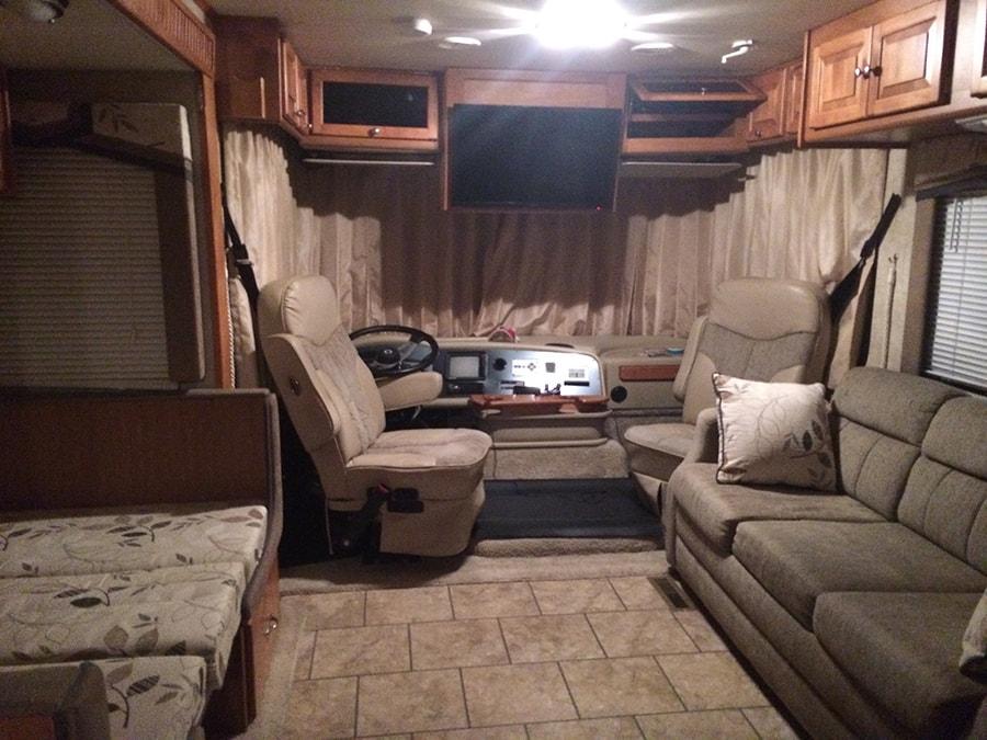 RV interior before renovation
