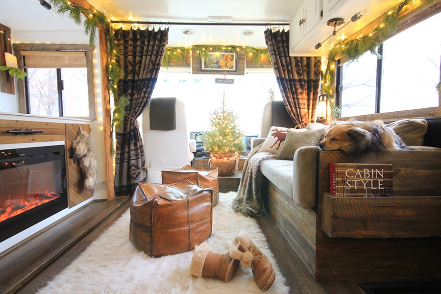 Renovated RV Christmas Tour - Come see how we decorated our tiny home on wheels for the holidays!