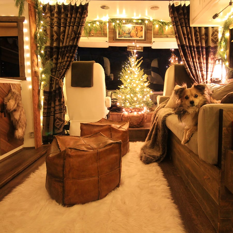 Renovated RV Christmas Tour - Come see how we decorated our tiny home on wheels for the holidays! MountainModernLife.com