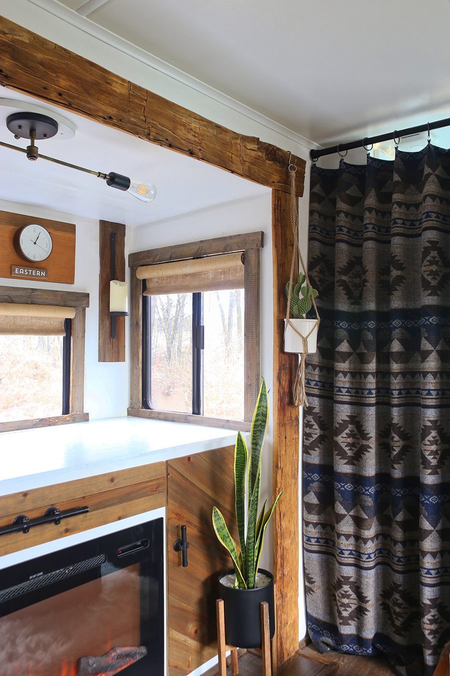 rustic rv interior