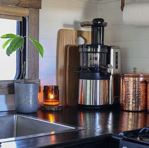 RV Kitchen with Juicer on counter