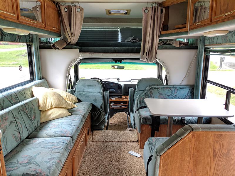 90s C-Class RV interior