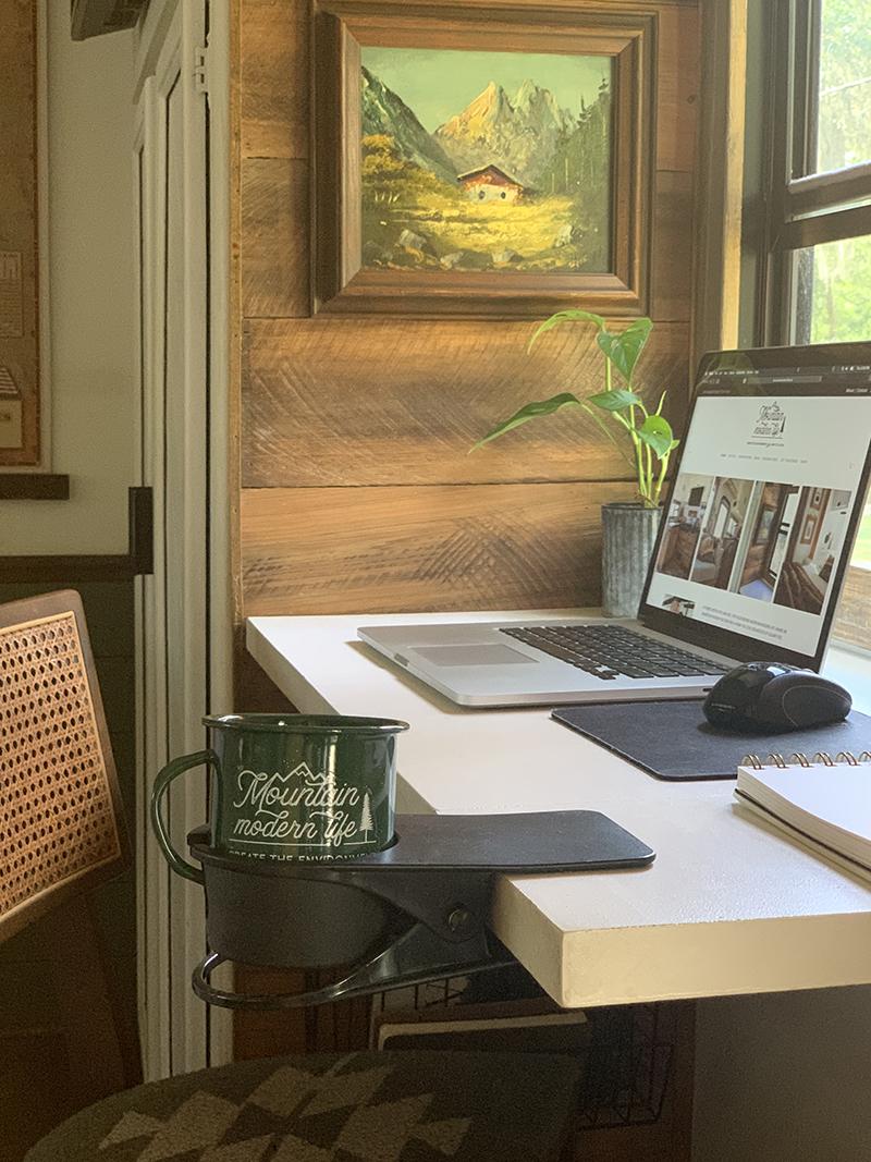 diy modular desk design RV mobile office