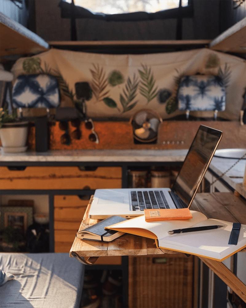 creative van conversion desk