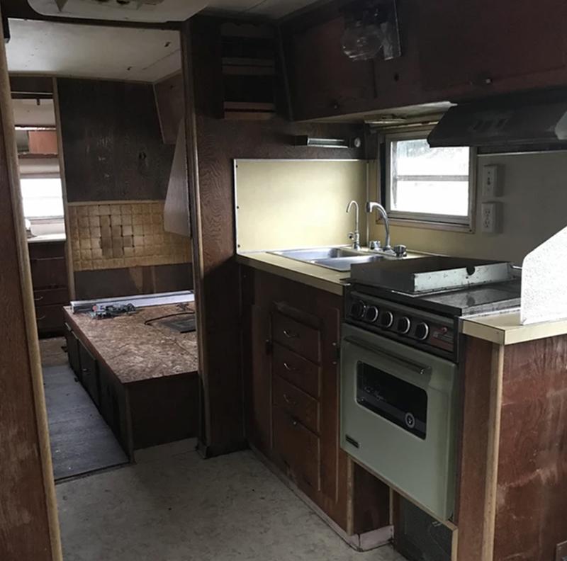 vintage camper before reno