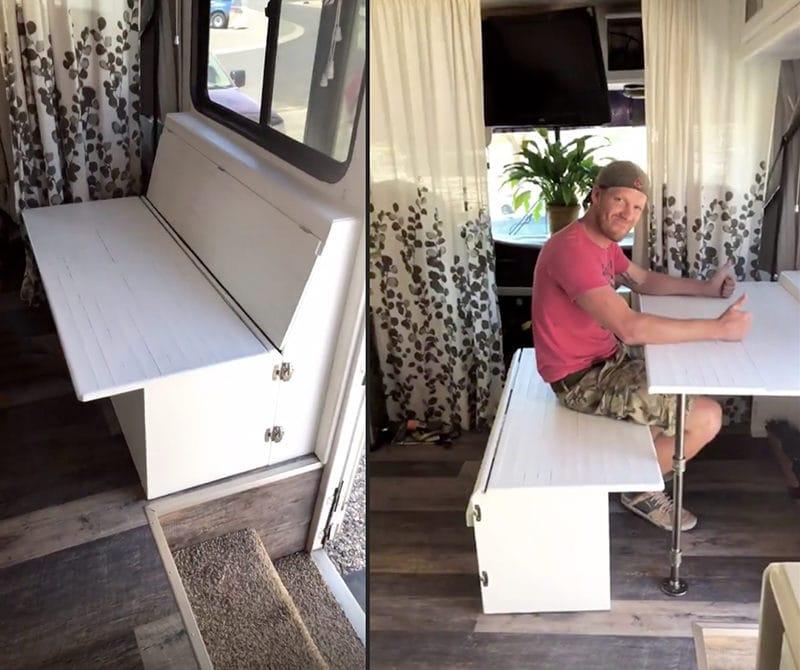 Space saving desk idea for RV