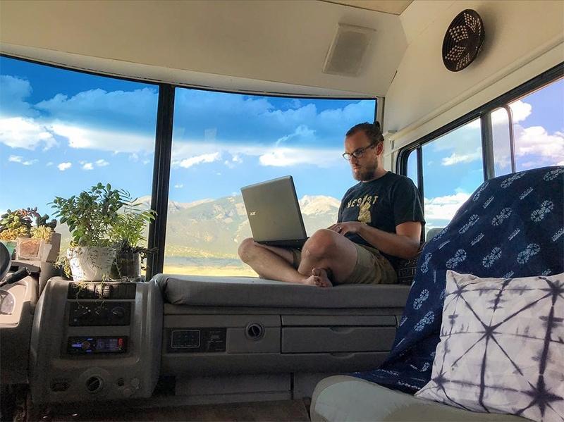 rv mobile office ideas