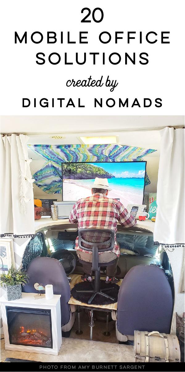 motorhome desk ideas