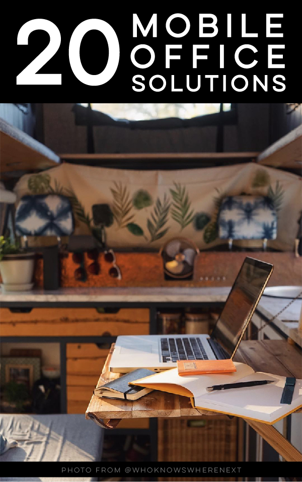20 mobile office solutions created by digital nomads