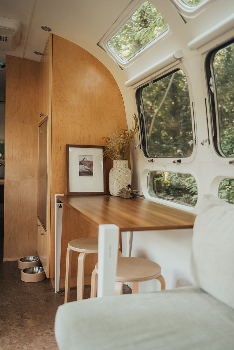 Airstream mobile office solution using Floyd Legs