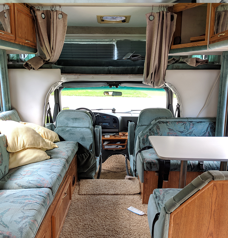 RV interior before remodel