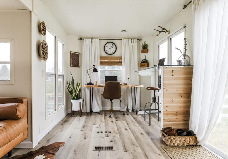 modern RV office inspiration
